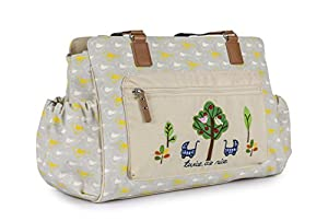 Pink Lining Twice as Nice Garden Birds Changing Bag by Pink Lining