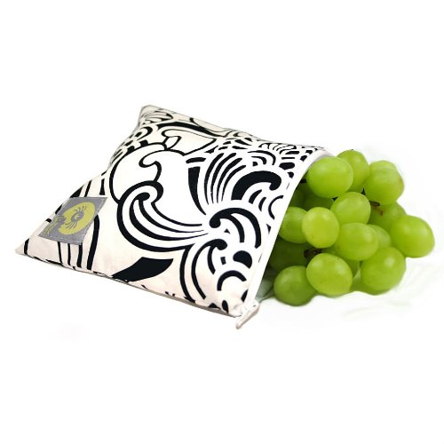Itzy Ritzy Snack Happens Baby Reusable Snack Bag, Licorice Swirl