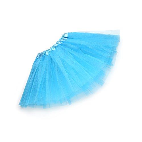 Anleolife 12'' Ballet Birthday Tutu Dress Cheap Tutu Skirt Ballet Dance Mini Skirts (light blue) (Baby Dress Light Blue compare prices)