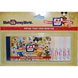 Walt Disney World 40th Anniversary Ticket Book Notepad