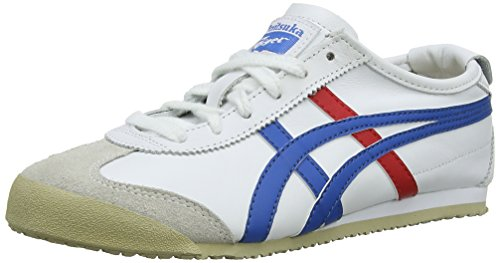 Onistuka Tiger Mexico 66 - Sneakers Basse da unisex da adulto, colore bianco (white/blue 146), taglia 44