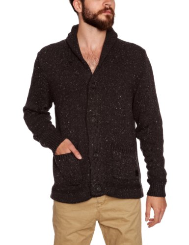 Lee Men's Chunky Cardigan Dark Grey Mele XX-Large