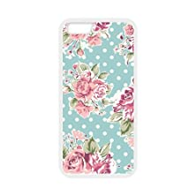 buy Romantic Pink Roses White Stylish Cover Case & Dust Plug For Iphone 6 (4.7Inch) With High-Quality Silicon Rubber