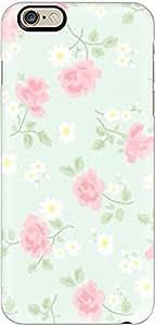 Singlelemon Floral Print Mobile Back Case for iPhone 6/6s (Light Mint)