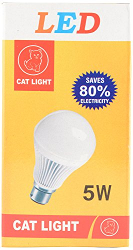 Cat-Light-5W-B22-LED-Bulb-(White)
