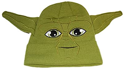 Star Wars Yoda Youth Costume Beanie Hat with Ears - Green