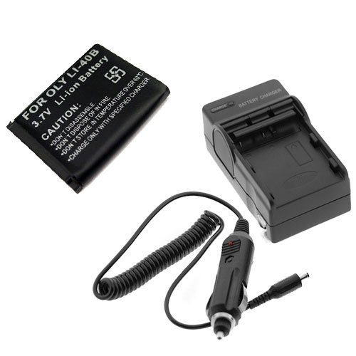 GTMax Replacement Standard Lithium-Ion Battery + Battery Charger w/ Car Adapter for Olympus Stylus 3000 / 7010 / FE-5020 / FE-4010 / FE-4000 / SP-700 / Stylus 1050 SW / Stylus 850 SW / Stylus 790 SW / Stylus 7000 / Stylus 550WP / Stylus 1040 / Stylus 840 / Stylus 830 / Stylus 820 / Stylus 780 / Stylus 760 / Stylus 750 / Stylus 740 / Stylus 730 / Stylus 710 / Stylus 1200 / FE-5010 / FE-5000 / FE-3010 / FE-3000 / FE-360 / FE-20 / FE-350 / FE-340 / FE-330, / FE-320 / FE-300 / FE-290 / FE-280 / FE-2
