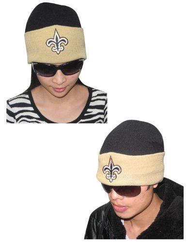 NFL New Orleans Saints Adult Warm Ski & Skate Roll Up Beanie / Winter Hat Black at Amazon.com