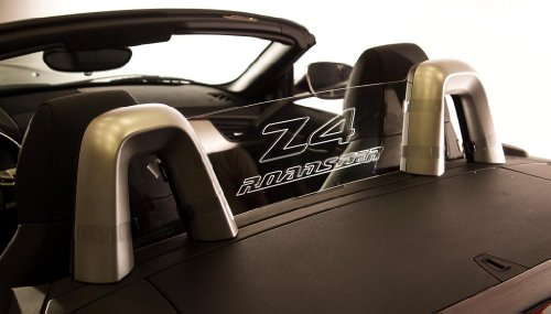 DEFLECTAIR - Wind Deflector for Pontiac Solstice Convertible Black w//SOLSTICE Engraving