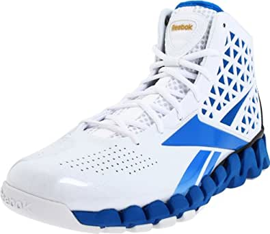 Reebok Men's Zig Slash Basketball Shoe,White/Gold/Instinct Blue,7.5 M US
