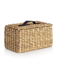 Water Hyacinth Rectangular Lidded Basket