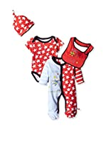 Pitter Patter Baby Gifts Conjunto (Rojo / Blanco)