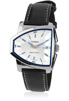 Casio Enticer Analog Mens Watch Silver Dial A693