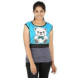 Knit Abc Garments Women's Character Top(KA-WTOP-DY-02-BL-SBU-L_Multicolor_Large)