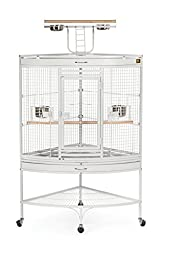 Prevue Pet Products Large Corner Bird Cage 3156W White, 37-Inch by 27-Inch by 63-Inch