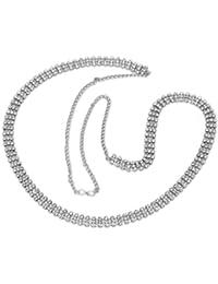 Jaipur Mart 20.00 Grams Silver Plated Rhinestone Kamarband Jewellery For Girls & Women Gift For Her, Girl, Women...
