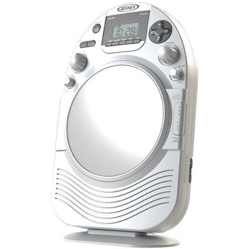 Jensen Jcr525 White Shower Radio Am/Fm Stereo Cd Player