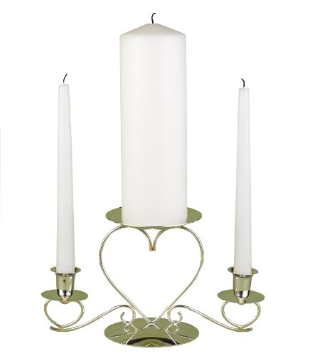 Hortense B. Hewitt Wedding Accessories Basic White Unity Candles, Set of 3 9