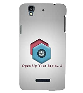 PRINTSWAG TYPOGRAPHY Designer Back Cover Case for MICROMAX YU YUREKA