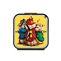2buymore Clock Alvin and the Chipmunks Custom Square Alarm Clock Travel Clocks 100% Quartz