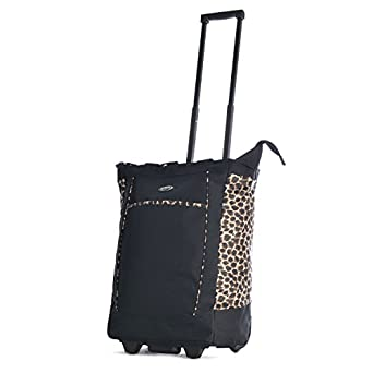 Olympia Rolling Shopper Tote BK and LE, Black Leopard, One Size