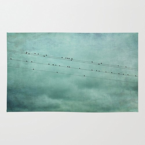 Society6 Birds On Wires Rug 4' x 6' (Bird On A Wire Rug compare prices)
