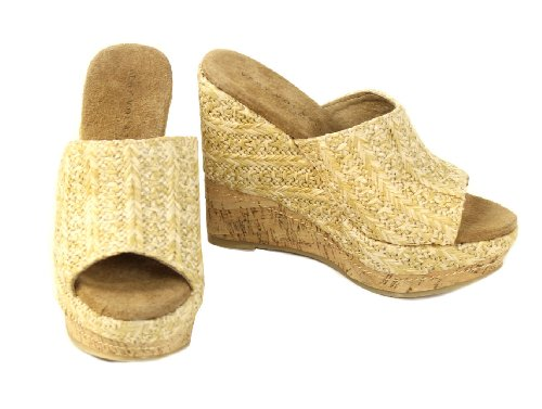 Very Volatile Women'S Sand Stone Platform Sandal,Natural,9 B Us front-910526