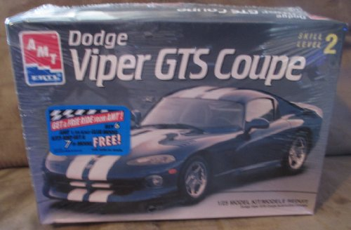 #8055 AMT Dodge Viper GTS Coupe 1/25 Scale Plastic Model Car Kit,Needs Assembly by AMT Ertl (Dodge Viper Model compare prices)