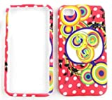 Apple iPhone 4 Colorful Dots and Circles on Pink with White Dots Hard Case,Cover,Faceplate,SnapOn,Protector