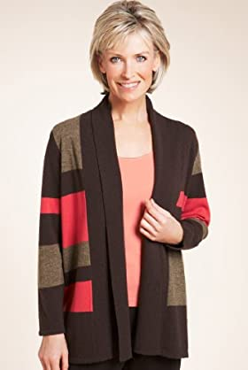 Classic Collection Wool Rich Colour Block Cardigan