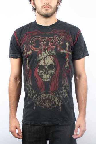 Affliction - Mens Ozzy Vintage T-Shirt in Black