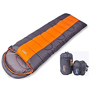 寝袋 封筒型 軽量 アウトドア 登山 車中泊 丸洗い 最低使用温度0度 収納袋付き