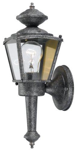 Hardware House 544197 13-1/2-Inch by 4-1/2-Inch Outdoor Lighting Fixture Antique Silver