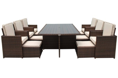 Super Deluxe 13 Piece Barcelona Cube Set inc Footstools and Backrests!