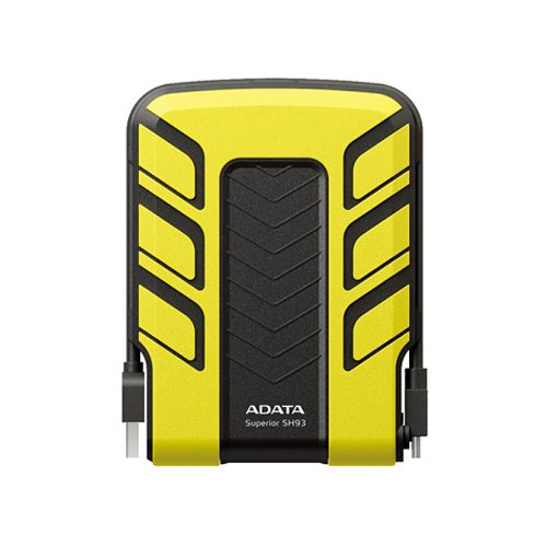 ADATA Series SH93 1TB 2.5 inch Portable Hard Disk Drive - Yellow
