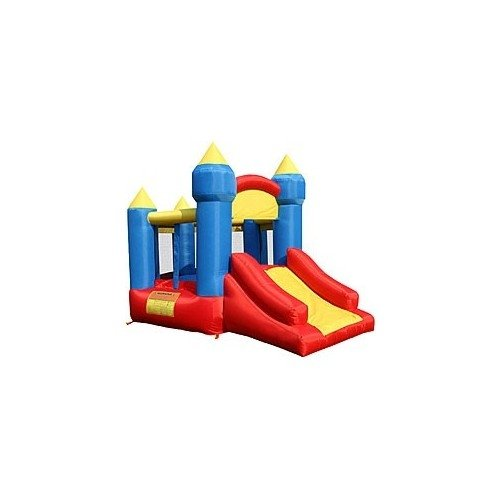 Little Kings Castle With Slide Bouncer Kidwise Multi-Color Fun House. Same As Little Tikes Bounce House With Cheaper Price. front-880173