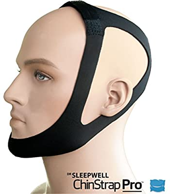 Chin Strap Pro - Anti Snoring Devices - Stop Snore Aids - Sleep Better - Snore No More Stopper Solution - Sleeping Relief - Alternative to Mouthpiece Nose Strips Cpap - Improved Second Skin Comfort!