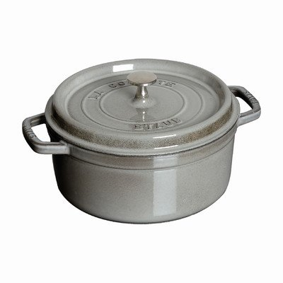 Round Dutch Oven Color: Graphite, Size: 7-Qt.