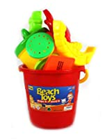 Outdoor Fun 8 Piece Children's Kid's Toy Beach/Sandbox Tool Playset, Comes with Bucket, Hand Tools, Sand Molds (Colors May Vary) from Sand Toys