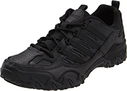 Skechers for Work Women\'s Compulsions Chant Lace-Up Work Shoe,Black,7.5 M US