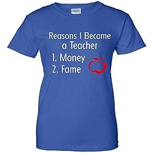 Reasons I Became A Teacher Funny Women's T-Shirt blue 3XL