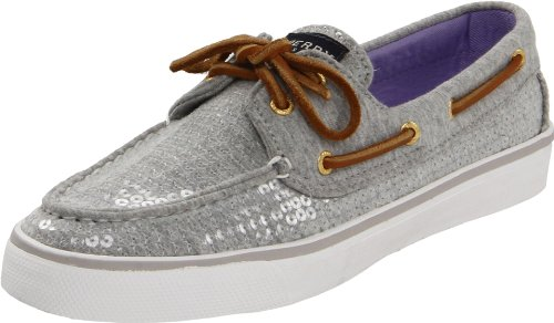 Sperry Top-Sider Women's Bahama, Grey Fleece Sequin Choose Size: 8.5 (Euro 39)