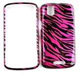 CAR CHARGER + PINK/BLACK ZEBRA PRINT DESIGN SNAP-ON FACEPLATE CASE CELL PHONE COVER FOR MOTOROLA DROID PRO A957