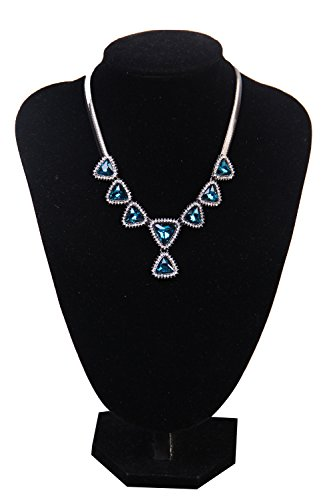Voguevers Women's Rhinestone Fashion Pendant Chokers Necklace Party Jewelry