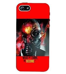 PrintVisa Villain Skull Bond Don Quotes 3D Hard Polycarbonate Designer Back Case Cover for Apple iPhone 5 :: 5S