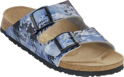 Image of Papillio slippers Arizona from Birko-Flor in Textil Wave Blue with a narrow insole (B004YHN7GY)