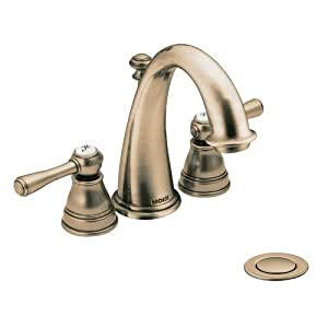 Moen t6123az 9300 kingsley 4 39 39 minispread bathroom faucet antique bronze bathroom sink Amazon bathroom faucets moen