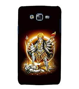 printtech Lord Goddess Durga Back Case Cover for Samsung Galaxy A8::Samsung Galaxy A8 A800F