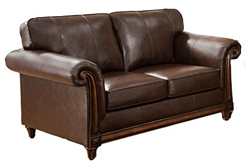 Simmons Upholstery 8001-02 San Diego Coffee Bonded Leather Loveseat front-833072