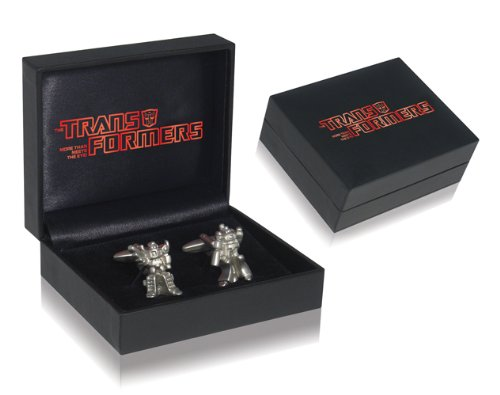 Official Vintage Retro Transformers Shirt Cufflinks, 1 x Optimus Prime and 1 x Megatron